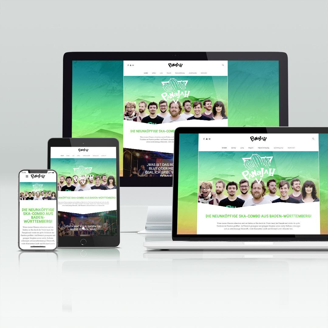 Referenz Panajah Website